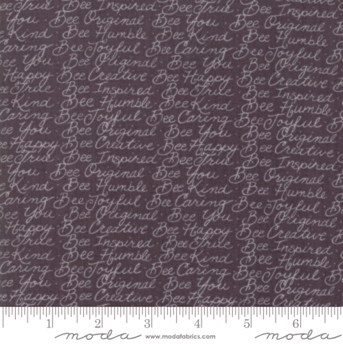 MODA FABRICS - Bee Joyful - Words Pebble Grey