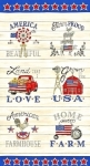 MODA FABRICS - Land That I Love - Cream - PANEL - PL107