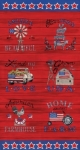 MODA FABRICS - Land That I Love Red - PANEL - PL108