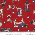 MODA FABRICS - Land That I Love - Red Farm Animals