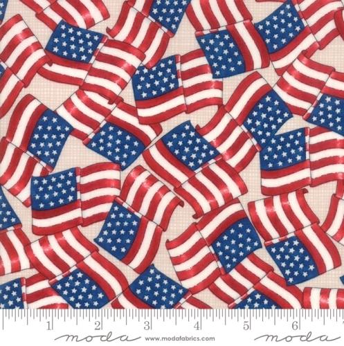 MODA FABRICS - Land That I Love - Beige Flags