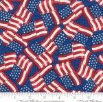 MODA FABRICS - Land That I Love - Blue Flags
