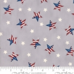 MODA FABRICS - Land That I Love - Gray Patriotic Stars