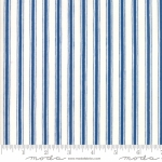 MODA FABRICS - Land That I Love - White/Blue Stripe