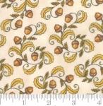 MODA FABRICS - Thankful by Deb Strain - Seasonal Autumn Acorn Swirls Natural - Ivory