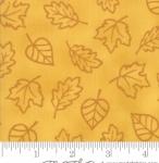 MODA FABRICS - Thankful by Deb Strain - Seasonal Autumn Monotone Leaves - Gold