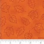 MODA FABRICS - Thankful by Deb Strain - Seasonal Autumn Monotone Leaves - Orange - Pumpkin