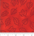 MODA FABRICS - Thankful by Deb Strain - Seasonal Autumn Monotone Leaves - Berry - Red