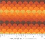 MODA FABRICS - Thankful by Deb Strain - Seasonal Autumn Fall Feathers - Orange - Pumpkin