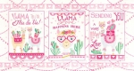 MODA FABRICS - Llama Love - Snowy White - PANEL - PL383