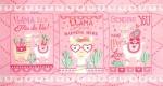 MODA FABRICS - Llama Love - Pretty Pink - PANEL - PL384-