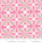 MODA FABRICS - Llama Love - Pretty Pink