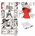 Riley Blake - Couturiere Parisienne 3 Piece Panel Bundle by J. Wecker Frisch
