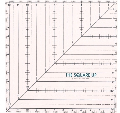 12 1/2 Square Up Ruler by Quilt in a Day