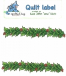 Spotted Dog Graphics - Garland - Quilt Label