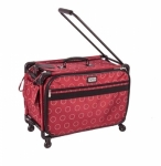 Tutto Large Red Dotted Circle on Wheels by Tutto Luggage DROP SHIP