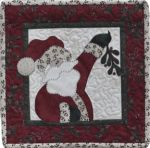 The Wooden Bear Quilt Designs: December: Ho, Ho, The Mistletoe