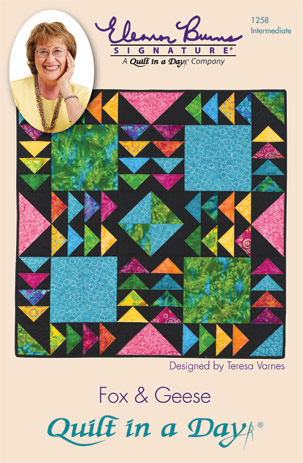 Image result for quilt in a day fox and geese quilt