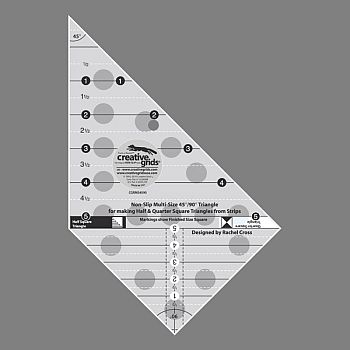 creative grids multi size 45 90 degree triangle ruler cgrms4590