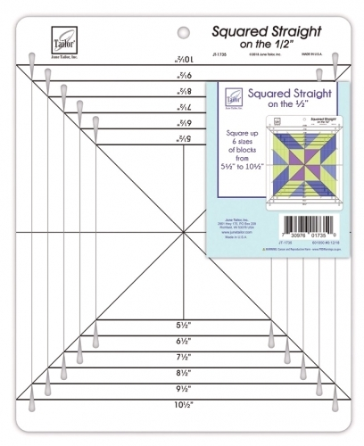 June Tailor Squared Straight on the 1/2 inch Ruler