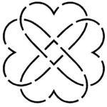 Heart Knot 4 inch Stencil HW180