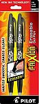Frixion Fine Point Heat Erase Pen-Black 2 Pack