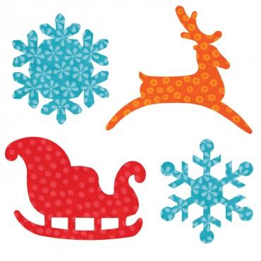 Accuquilt Die 55322 Sleigh & Snowflakes