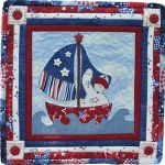 The Wooden Bear Quilt Designs: July Sailboat