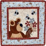 The Wooden Bear Quilt Designs: May Bear and Bees