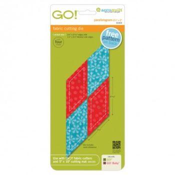 Accuquilt Die GO! 55402 Parallelogram 45 degree 2 1/4 in x 2 13/16 in. Sides