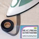 Heat Press Batting Together 3/4 in X 10 yds - Black