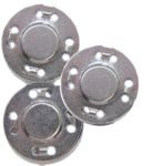 Ghees Sew-on Magnetic Snaps Silver 7/8 in.