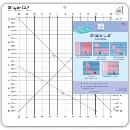 June Tailor Shape Cut Slotted Ruler 730976079600 Quilt