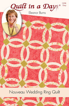 nouveau wedding ring quilt eleanor burns signature quilt pattern 735272012986 - Wedding Ring Quilt Pattern