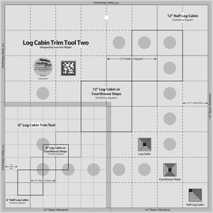 Creative Grids Log Cabin Trim Tool Two 6 & 12 Inch Blocks CGRJAW2