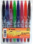 Frixion Assorted Erasable Gel Pen 8pc