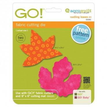 Accuquilt Die GO! 55391 Rustling Leaves #3- Sweetgum and Poplar (Small)