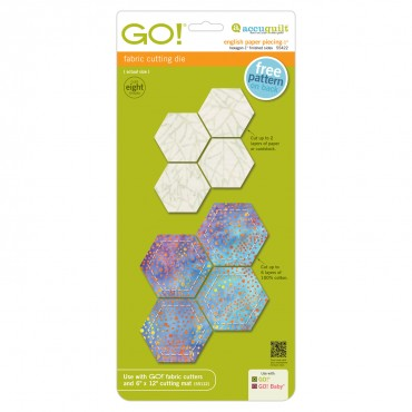Accuquilt Die 55422 English Paper Piecing Hexagon 1 Inch Finished Sides