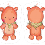 Bear Fabric Doll Panel