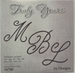 Clearance - Truly Yours Monogram Alphabet CD Rom - 26 Designs
