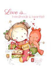 Clearance - Love is...Handmade & Heartfelt Holiday Card