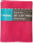 Mesh Fabric, Medium Weight, Bright Pink 36 in x 50 in