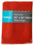 Mesh Fabric, Medium Weight, Orange 36 in x 50 in
