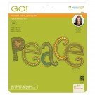 Clearance - Accuquilt Die GO! 55305 Peace by Sarah Vedeler