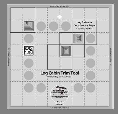 Creative Grids Log Cabin Trim Tool for 8in x 8in Finished Blocks  CGRJAW1