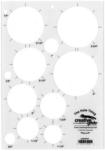 Creative Grids The Hole Thing Template Plastic  CGRTPHT