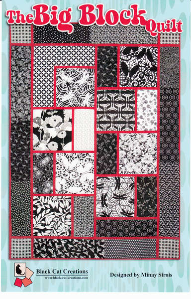 Black Cat Creations: The Big Block Quilt Pattern 811765010254