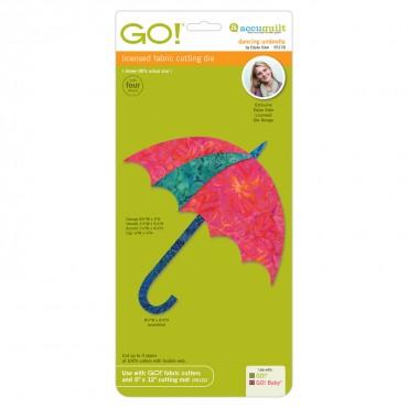 Accuquilt Die GO! 55178 Dancing Umbrella by Edyta Sitar