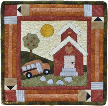 The Wooden Bear Quilt Designs September Schoolhouse 878870000846