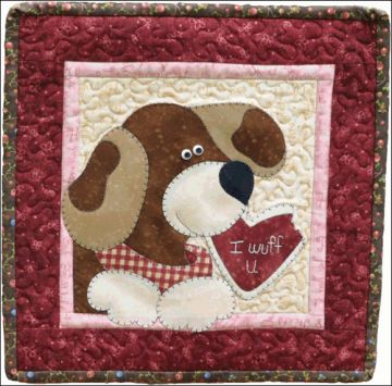 The Wooden Bear Quilt Designs February Dog 878870000914 Quilt In